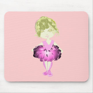 Miss-fit Pink Ballet Dancer Girl Mouse Pad