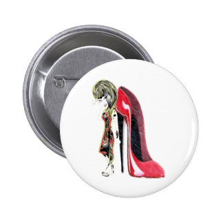 Miss-fit Red loves Stiletto's digital girl art Buttons