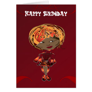 Miss-fit Scarlet Digital Art Girl Card