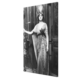 Miss Gladys Cooper [1888-1971] in Fancy Dress Gallery Wrapped Canvas