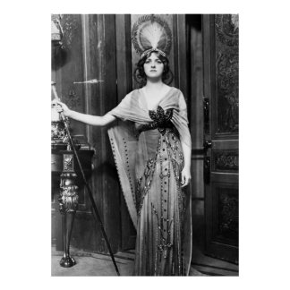 Miss Gladys Cooper [1888-1971] in Fancy Dress Poster