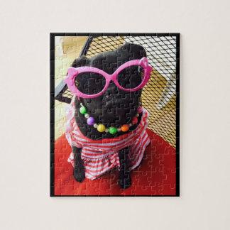 Miss Harley Black Pug Puzzle