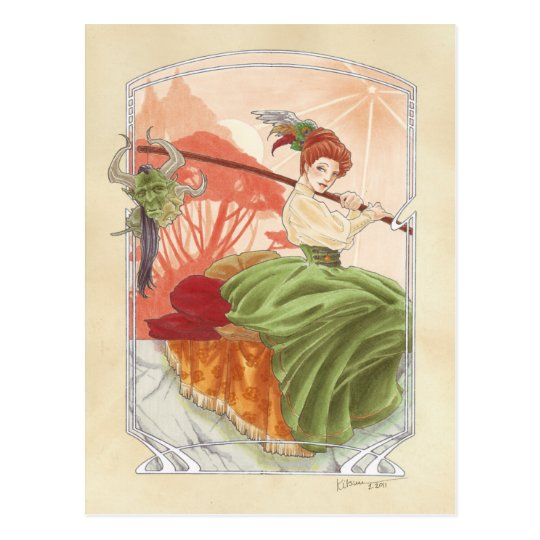 Miss Haversham's Afternoon Tea postcard