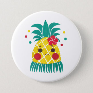 Miss Hawaiian Pineapple 7.5 Cm Round Badge