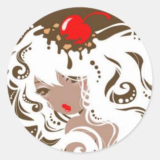Miss Hot Fudge Sundae Stickers
