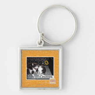 Miss Innocent Silver-Colored Square Key Ring