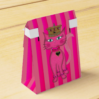 Miss Kitty Pink Glitter 2s-FAVOR BOX tent Wedding Favour Boxes