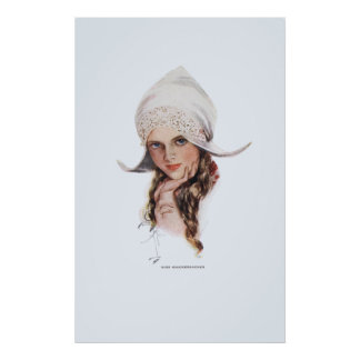 Miss Knickerbocker by Harrison Fisher Poster