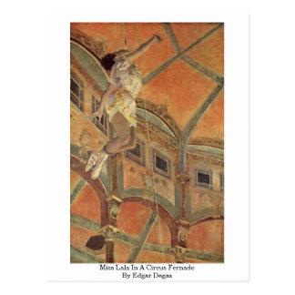 Miss Lala In A Circus Fernado By Edgar Degas Post Card
