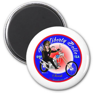 Miss Liberty Belle Refrigerator Magnets