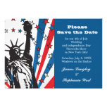 Miss Liberty Patriotic Invitation