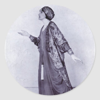 Miss Lillah McCarthy Round Sticker