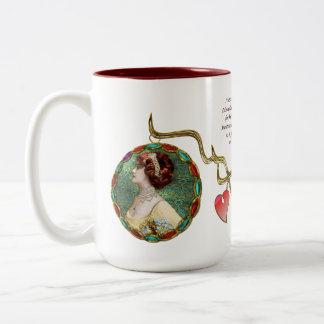 Miss Lily Elsie (Ceramic Mug) Two-Tone Mug