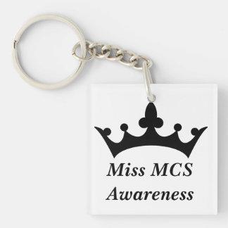 Miss MCS Awareness Square Acrylic Keychain