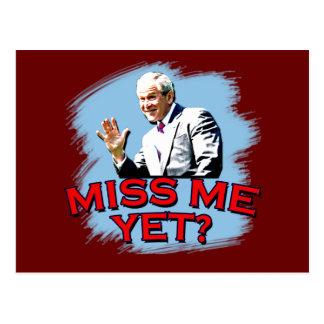 Miss Me Yet? George W Bush Tshirt Postcard
