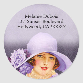 Miss Melanie in Lavender - Address Labels
