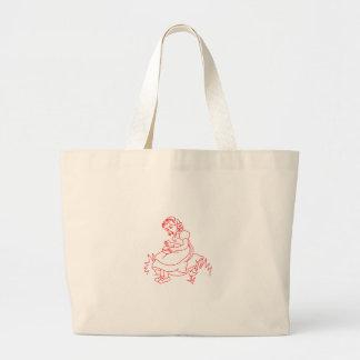 Miss Muffet Redwork Jumbo Tote Bag