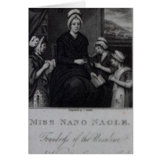 Miss Nano Nagle, 1809 Card
