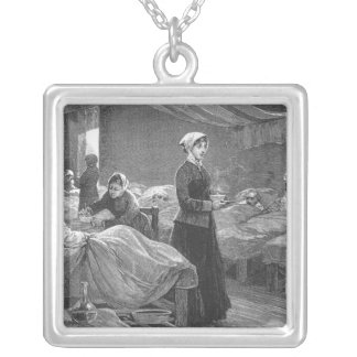 Miss Nightingale in the Barrack Hospital Silver Plated Necklace