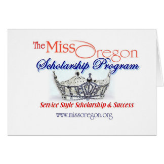 Miss Oregon Notecard Greeting Card