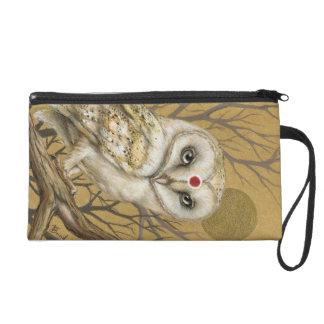 Miss Owl Wristlet Clutch