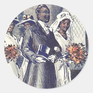 Miss Samantha Johnson's Wedding Round Sticker