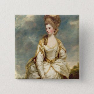 Miss Sarah Campbell, 1777-78 (oil on canvas) 15 Cm Square Badge