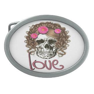 Miss Skull Belt Buckles