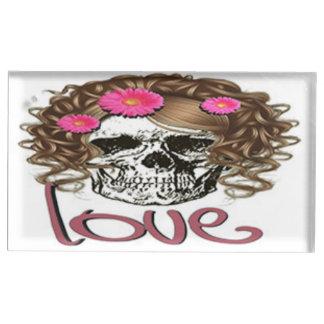 Miss Skull Table Card Holder