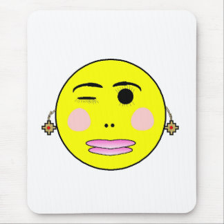 Miss Smiley Mouse Pad