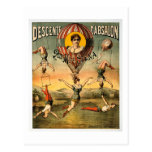 Miss Stena Flying Trapese Vintage Circus Poster Postcard