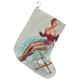 Miss Sylvania Pin-Up Girl Large Christmas Stocking
