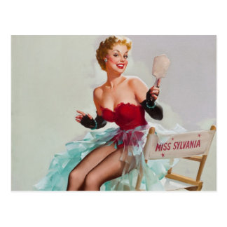 Miss Sylvania Pin-Up Girl Postcard