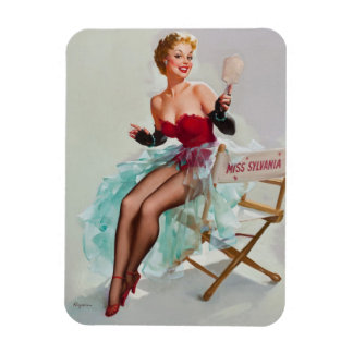 Miss Sylvania Pin-Up Girl Rectangular Photo Magnet
