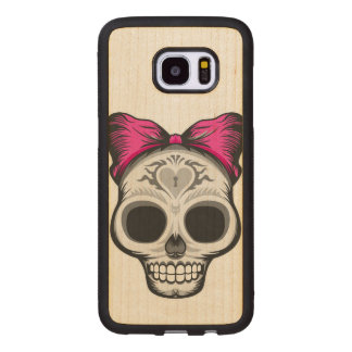Miss Thang Sugar Skull Wood Samsung Galaxy S7 Edge Case