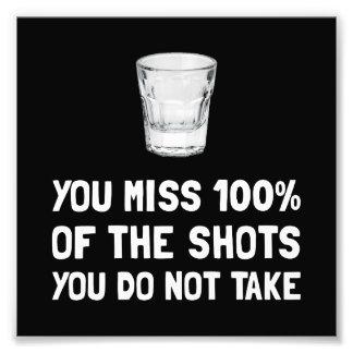 Miss The Shots Photo Print