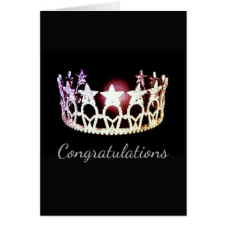 Miss USA America State Crown Card-Congrats Card