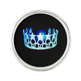 Miss USA Aqua Blue Crown Lapel Pin