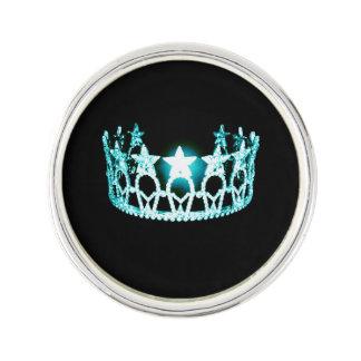 Miss USA Aqua Crown Lapel Pin