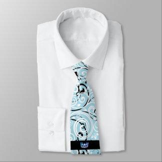 Miss USA Blue Crown Men's Flourish Tie
