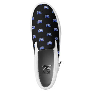 Miss USA Blue Crown ZipZ Slip On Shoes