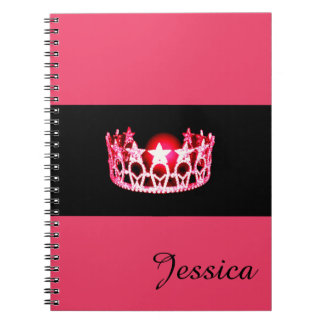 Miss USA Cherry Crown Notebook- Custom Name Notebooks