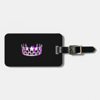 Miss USA Orchid Crown Luggage Tag