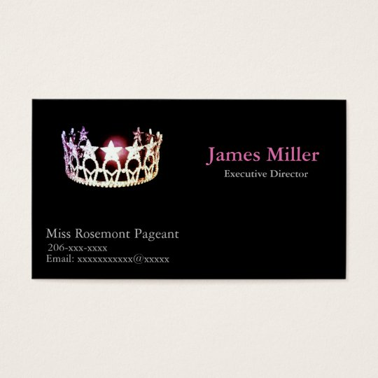 Miss USA Personalised Pageant Business Card