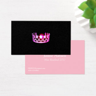 Miss USA Pink Crown Business Cards