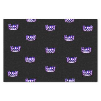 Miss USA Purple Crown Tissue Paper