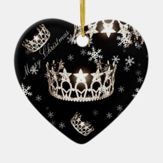 Miss USA Silver Crown Christmas Ornament