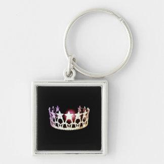 Miss USA Silver Crown Metal Key Chain