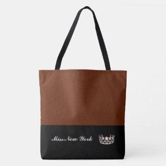 Miss USA Silver Crown Tote Bag-Large Cinnamon