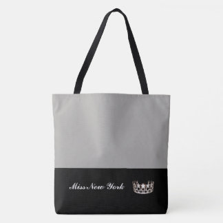 Miss USA Silver Crown Tote Bag-Large Silver